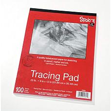 """[해외]Darice 9""""x12"""" Artist's Tracing Paper, 100 Sheets – Translucent Tracing Paper for Pencil, Marker and Ink, Lightweight, Medium Surface (97490-3)"""