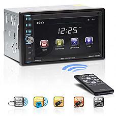 [해외]BOSS Audio BV9370B Car Stereo – Double Din, Bluetooth Audio and Hands Free Calling, 6.5 Inch Touchscreen LCD Monitor, MP3 Player, USB Port, SD Card Slot, AUX Input, AM/FM Radio Receiver (No CD/DVD)