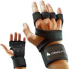 [해외]Workout 장갑 , Weight lifting gloves with Wrist Support for Fitness, WOD, Gym Cross Training & Powerlifting - Silicone Padding to avoid Calluses - Suits Men & Women, Strong Grip (Black, X-Large)