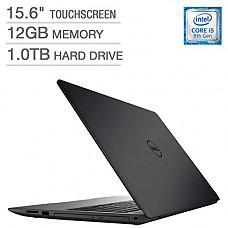 """[해외]2018 Dell Inspiron 15 5000 Flagship Premium 15.6"""" Full HD Touchscreen Backlit Keyboard Laptop, Intel Core i5-8250U Quad-Core, 12GB DDR4, 1TB HDD, DVD-RW, Bluetooth 4.2, Windows 10, Black"""