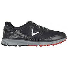 [해외]Callaway Mens Balboa Vent Golf Shoes CG102BGR - Black/Grey - 9 - Wide