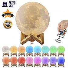 [해외]Astro-Night Moon Lamp, 3D Printed 16 Color LED Moon Night Light, USB Recharge, Remote Control & Touch Sensor, Adjustable Brightness(5.9 INCH) for Babies/Children Best Gift for Friends & Admirers