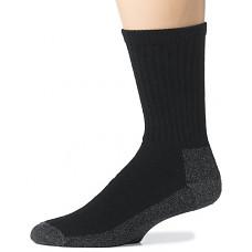 [해외]Wigwam Mens At Work Sock - Cotton Blend Cushioned Crew - Black, Large - 4 Pack (12 Pairs)