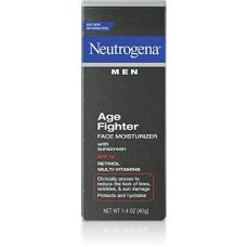 [해외]Neutrogena Age Fighter Anti-Wrinkle Face Moisturizer for Men, Daily Oil-Free Face Lotion with Retinol, Multi-Vitamins, and Broad Spectrum SPF 15 Sunscreen, 1.4 oz