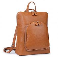 [해외]S-ZONE Soft Leather Backpack for Women Casual Travel School Bag Daypack Satchel