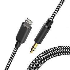 [해외]Car Aux Cable for iPhone X/Xs/Xr / 8/7 / 6 / Plus, Topacom 3.5mm Audio Cable, Aux Cord for Car Stereo, Headphone, Speaker, Black & White