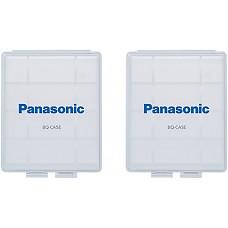 [해외]Panasonic BQ-CASE2SA 배터리 Storage Cases with 4AA or 5AAA 배터리 Capacity, 2 Pack