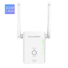[해외]WiFi Range Extender, GALAWAY 300Mbps WiFi Repeater External Antennas Signal Amplifier Booster 360 Degree WiFi Coverage