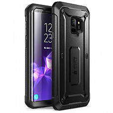 SUPCASE 유니콘 갤럭시 S9 케이스 Unicorn Beetle Pro Series Case Designed for Galaxy S9, with Built-In Screen Protector Full-body Rugged Holster Case for Galaxy S9 (2018 Release) (Black)