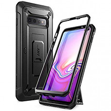 SUPCASE 유니콘 갤럭시 S10플러스 케이스 Unicorn Beetle Pro Series Designed for Samsung Galaxy S10 Plus Case (2019 Release) Full-Body Dual Layer Rugged with Holster & Kickstand Without Built-in Screen Protector (Black)