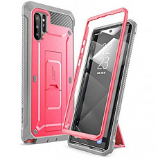 SupCase 유니콘 갤럭시 노트10플러스/ 노트10플러스5G 케이스 Unicorn Beetle Pro Series Case Designed for Samsung Galaxy Note 10 Plus/Note 10 Plus 5G, Full-Body Rugged Holster & Kickstand Without Built-in Screen Protector (Pink)