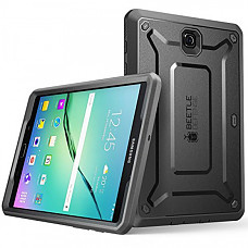 SUPCASE 유니콘 갤럭시탭 S2 8.0 케이스 Unicorn Beetle PRO Series Rugged Hybrid Protective Cover for Samsung Galaxy Tab S2 8.0  w/Builtin Screen Protector Bumper (Black/Black)