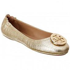 [해외] 토리버치 여성 클로즈드 토우 Tory Burch Womens Minnie Closed Toe Slide Flats - Spark Gold