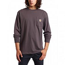[해외] 칼하트 K126 롱슬리브 티셔츠 Carhartt Men's Workwear Jersey Pocket Long-Sleeve Shirt K126 (Regular and Big & Tall Sizes) - Charcoal