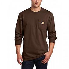 [해외] 칼하트 K126 롱슬리브 티셔츠 Carhartt Men's Workwear Jersey Pocket Long-Sleeve Shirt K126 (Regular and Big & Tall Sizes) - Dark Brown