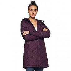[해외] 콜롬비아 여성 롱후드 자켓 Columbia Women's Heavenly Long Hooded Jacket - Black Cherry