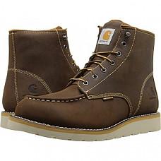 [해외] 칼하트 방수 작업부츠 Carhartt Men's 6-Inch Waterproof Wedge Soft Toe Work Boot - Brown Oil Tanned Leather