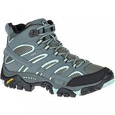 [해외] 머럴 여성 GTX 하이킹 부츠 Merrell Women's Moab 2 Mid Gtx Hiking Boot - Grey Sedona Sage
