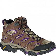 [해외] 머럴 여성 Moab 2 하이킹 부츠 Merrell Women's Moab 2 Vent Mid Hiking Boot - Bracken/Purple