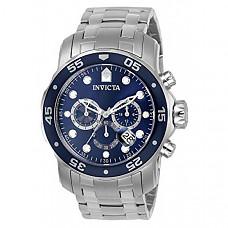 [해외] 인빅타 남성 프로다이버 아날로그 시계(Model : 0070) Invicta Men's  Pro Diver Collection Analog Chinese Quartz Chronograh Silver-Tone/Blue Stainless Steel Watch