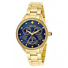 [해외] 인빅타 여성 와일드플라워 쿼츠 시계(Model: 29095) Invicta Women's Wildflower Quartz Watch with Stainless Steel Strap, Gold