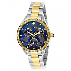 [해외] 인빅타 여성 와일드플라워 쿼츠(Model: 29101) Invicta Women's Wildflower Quartz Watch with Stainless Steel Strap, Two Tone, 22