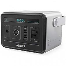 [해외] 앤커 휴대용 발전기 Anker Powerhouse, Compact 400Wh / 120000mAh Portable Outlet, Generator Rechargeable Power Source with Silent DC/AC Inverter, 12V Car/AC/USB Outputs for Camping, CPAP or Emergency Backup