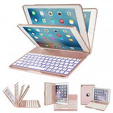 [해외] 아이패드 프로 9.7 키보드 케이스 iPad Pro 9.7 Keyboard Case,IEGROW 7 Colors LED Backlit Keyboard Slim Clamshell iPad Protective Cover for iPad Pro 9.7 Inches Model A1673/A1674/A1675(Rose Gold)