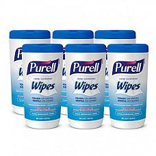[해외] 퓨렐 손세정용 물티슈(40매, 6팩)PURELL Hand Sanitizing Wipes, Clean Refreshing Scent, 40 Count Hand Wipes Canister (Pack of 6) - 9120-06-CMR