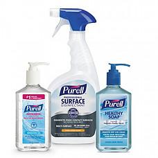 [해외] 퓨렐 손세정제/세정스프레이/세정비누 PURELL Solution Breakroom Kit, 1-8 oz PURELL Advanced Hand Sanitizer, 32 oz PURELL Professional Surface Disinfectant and 12 oz PURELL Healthy SOAP - 9901-KT-BR