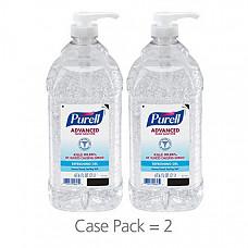 [해외] 퓨렐 손세정제 젤(2L-2팩)PURELL Advanced Hand Sanitizer, Gel, 2 Liter Hand Sanitizer Table Top Pump Bottles (Pack of 2) - 9625-02-EC