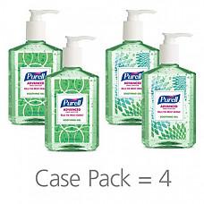 [해외] 퓨렐 손세정 수딩 젤 236ml(8oz) 4팩 PURELL Advanced Hand Sanitizer Soothing Gel for the workplace, Fresh scent, with Aloe and Vitamin E - 8 fl oz pump bottle (Pack of 4) - 9674-06-ECDECO