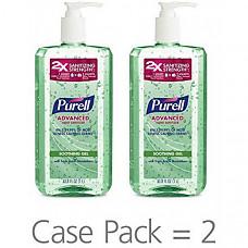 [해외] 퓨렐 손세정 수딩 젤 1L(33.8oz)PURELL Advanced Hand Sanitizer Soothing Gel for the workplace, Fresh scent, with Aloe and Vitamin E - 1 Liter pump bottle (Case 2) - 3081-02-EC