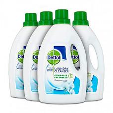 [해외] Dettol 데톨 항균 세탁 액상 세제 첨가제,(4Pack x 1.5 리터) Antibacterial Laundry Cleanser Liquid Additive, Fresh Cotton