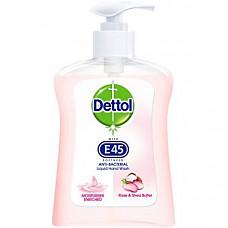 [해외] Detto 데톨 항균 손세정제(250 ml) Anti-Bacterial Handwash, Rose and Shea Butter