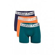 [해외] 캘빈 클라인 남성용 속옷 Calvin Klein Underwear Men's Steel Micro Boxer Briefs - Red Orange/Teal Diamond/Blue Noir