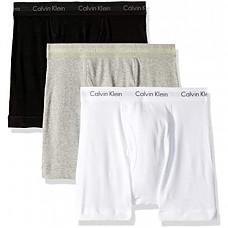 [해외] 캘빈 클라인 남성용 속옷(3pacK) Calvin Klein Underwear Men's Cotton Classics 3 Pack Boxer Briefs - White/Black/Grey