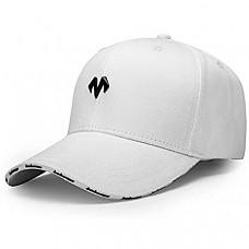 [해외] 바바마 야구 모자, 크기조절 가능 Unisex Baseball Caps Men Comfortable Sports Hat Adjustable Breathable Sun Hats Peaked Cap White