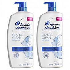[해외] 헤드앤숄더 클래식 클린 데일리 샴푸, 비듬 방지 및 두피 케어(950mL × 2개) Head and Shoulders Shampoo, Anti Dandruff Treatment and Scalp Care, Classic Clean, 32.1 fl oz, Twin Pack