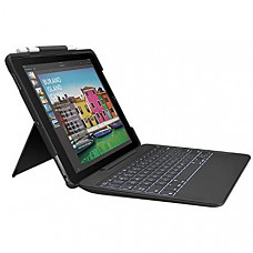 [해외] 로지텍 아이패드 프로 10.5인치 무선 스마트 커넥터 슬림콤보 키보드 케이스 Logitech iPad Pro 10.5 inch Keyboard Case | SLIM COMBO with Detachable, Backlit, Wireless Keyboard and Smart Connector (Black)
