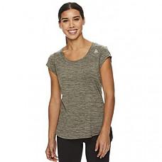 [해외] Reebok 리복 여성 운동용 티셔츠 Womens Legend Running & Gym T-Shirt - Performance Short Sleeve Workout Clothes for Women(Black Lichen Heather Legend)