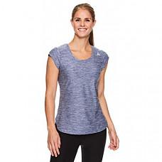 [해외] Reebok 리복 여성 운동용 티셔츠 Womens Legend Running & Gym T-Shirt - Performance Short Sleeve Workout Clothes for Women(색상:Medieval Blue Heather)