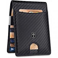 [해외] TRAVANDO 남성용 머니클립 슬림 지갑(영국직배송) Rio Slim Wallet with Money Clip RFID Blocking Wallet - Credit Card Holder - Travel Wallet - Minimalist Mini Wallet Bifold for Men with Gift Box