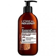 [해외] 로레알 파리 남성 바버클럽 3-in-1 수염, 헤어 & 얼굴 워시(200 ml/영국직배송) LOreal Paris Men Expert, Beard Shampoo, Barber Club 3-in-1 Beard, Hair & Face Wash, 200 ml