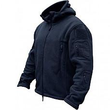 [해외] TACVASEN 남성 방한용 플리스 후드 자켓(영국직배송) Windproof Mens Military Fleece Combat Jacket Tactical Hoodies - Navy Blue