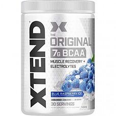 [해외] Scivation Xtend 엑스텐드 오리지널 Original BCAA 무설탕 아미노산 Powder - Sugar Free Post Workout Muscle Recovery Drink with Amino Acids - 7g BCAAs for Men & Women - 30 Servings